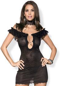 Obsessive POL Diamond koszulka i stringi czarne S/M prp7022801