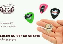 GRAWERNIA.PL Kostki do gry na gitarze z Twoją fotografią DRUK UV KG08