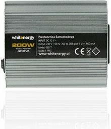 Whitenergy Przetwornica Samochodowa DC 12 V 230V 200 W z Tak
