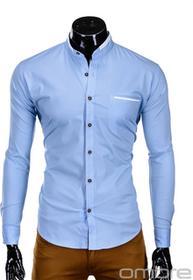 Ombre Clothing Koszula K303 - BŁĘKITNA