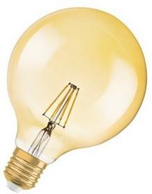 Osram Vintage 1906 LED GLOBE E27 220 240 V Vintage 1906 LED GLOBE 35 FIL GOLD 824 4W 410lm 2500K 15000 4052899962071