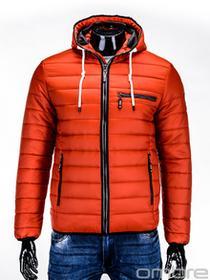 Ombre Clothing KURTKA C215 - POMARAŃCZOWA