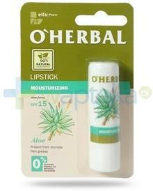 ELFA PHARM POLSKA O'Herbal nawilżająca bezbarwna pomadka do ust SPF15 z ekstraktem z aloesu 4,8 g Elfa Pharm 7068732