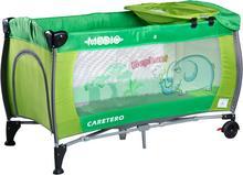 Caretero IKS 2 łóżeczko łóżeczka turystyczne Medio Safari Green