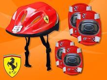 Zestaw Powerblade kask + ochraniacze Ferrari KASK_OCHR_FERRARI