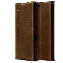 Zenus Neo Classic Diary Case/Tasche Dunkel Braun für Sony Xperia Z Ultra
