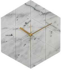 Karlsson ścienny Marble Hexagon white by KA5591WH