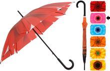 Parasol manualny FLOWER, Parasolka - 105 cm - różowy