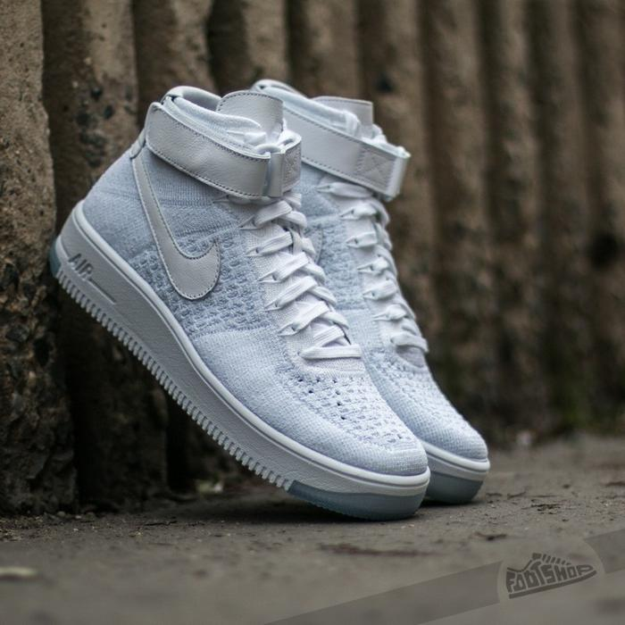 nike air force 1 flyknit białe