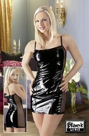 Black Level Sukienka winylowa czarna L 28500101040