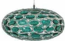 Candellux Kryształkowa LAMPA wisząca OPRAWA dekoracyjna DO salonu BELFAST 31-03096 kryształki Zielony