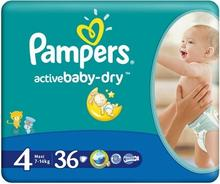 Pampers Active Baby-Dry 4 Maxi 36 szt.