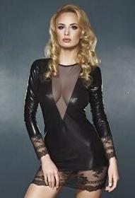 7heaven Sukienka Wet Look Olivet Queen Size