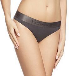 Calvin Klein Stringi underwear DUAL TONE - THONG dla kobiet, kolor: czarny, rozmiar: 36 (rozmiar producenta: S)