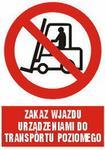 TD GC005 Zakaz wjazdu urządzeniai do transportu poziomego