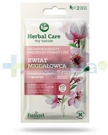 Farmona  Herbal Care Kwiat migdałowca drobnoziarnisty peeling do twarzy i ust 2x 5 ml