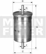 MANN Filtr paliwa WK 512 /