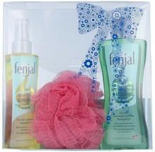 Fenjal Oil Skincare Kit 1506 W Kosmetyki Zestaw kosmetyków Olejek pod prysznic 200ml + Olejek do ciała 150ml + 1szt Gąbka 62509