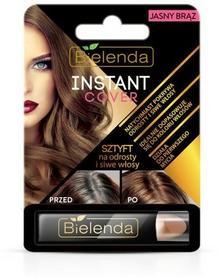 Bielenda  Sztyft na odrosty i siwe włosy jasny brąz Instant Cover 4.3g