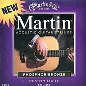 Martinstruny do gitary akustycznej .011-.052 Phosphor Bronze M535