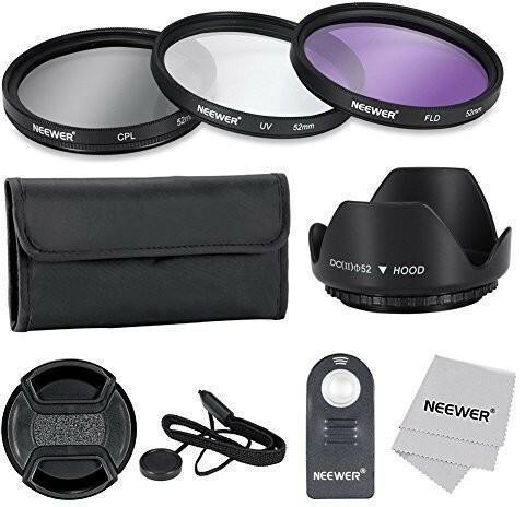 Neewer akcesoria zestawu i IR filtra 52MM, profesjonalnej jakości obiektyw bezprzewodowa RC-6pilot zdalnego sterowania do Nikon D7100D7000D5200D5100D5000D3300D3200D3000D90D80lustrzanek 90083637