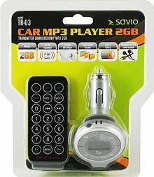 Elmak Transmiter FM TR03 i przenośne MP3 w jednym: pamięć 2GB, LCD 1.1, pilot Tr