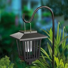 Hellum Solarna latarenka z niebieskim LED przeciw komarom