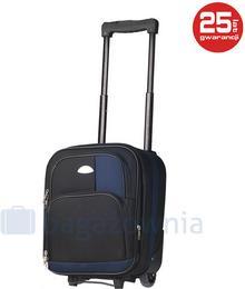 PELLUCCI Bardzo mała walizka PELLUCCI 652 WIZZ AIR Czarna - czarny / granatowy