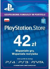 Sony Sony PlayStation Network 42 zł [kod aktywacyjny] Dostęp po opłaceniu zakupu