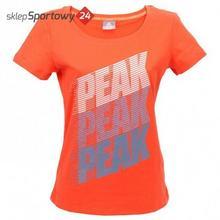 T-Shirt DAMSKA F652348 CZERW. /PEAK 63623-63627