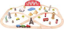Bigjigs Toys Kolejka Wyprawa dookoła świata BJT025