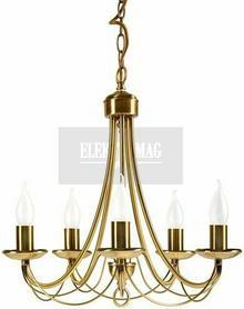 Candellux Żyrandol LAMPA wisząca OPRAWA klasyczna MUZA 35-69170 Patyna płomyk