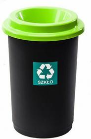 Kosz na śmieci Pojemnik do segregacji ECO BIN 50L Green PLF004