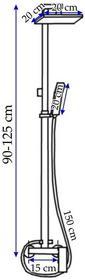 REA Axos Basic Zestaw natryskowy z baterią chrom P0038