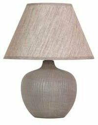 Candellux LAMPA stołowa CROBI 41-34908 abażurowa Lampka biurkowa Brązowy