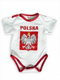 body POLSKA 100% Bawełna białe - godło duże
