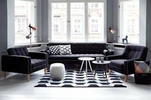 Beliani Kanapa ciemnoszara - sofa - wypoczynek - tapicerowana - FLAM szary