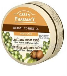 Green Pharmacy Peeling cukrowo-solny masło shea i zielona kawa 300 ml