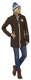 Nebulus nebulus damski płaszcz kurtka softshell sierść colder, brązowy, XL Q918_braun