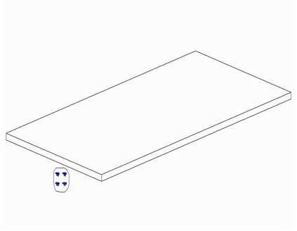 Pinio Dodatkowa półka do szafy 2-drzwiowej ToTo i Mini 013-040-110 DP