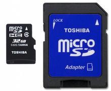 Toshiba Micro SDHC Class 4 (+ adapter) 32GB