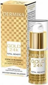 Dermika Gold 24k Total Benefit luksusowy krem pod oczy esencja Młodości 15ml