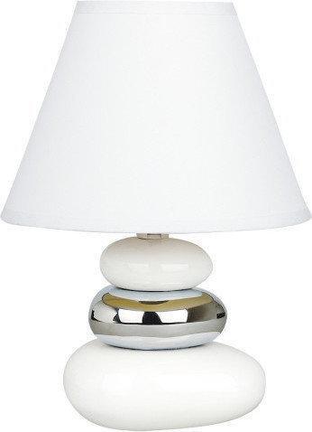 Rabalux Abażurowa Lampka nocna LAMPA z ceramiki do sypialni SALEM 4949 IP20 chro