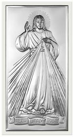 Beltrami Obrazek Jezus w białej oprawie - (BC#6443W)