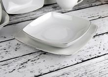 Chodzież Komplet talerzy dla 6 osób (18el) - Akcent 9718 PLATYNOWA LINIA