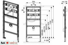 Tece profil - Uniwersalny Stelaż montażowy Do pisuaru, uruchamiany mechanicznie za pomocą przycisków lub elektroniki firmy 9.320.308