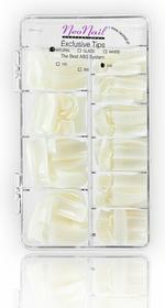 Neonail tipsy naturalne 500szt. z krótką kieszonka