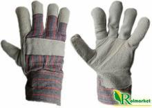 Zimowe rękawice robocze skórzane z dwoiny bydlęcej, ocieplane kożuszkiem RDBOA (