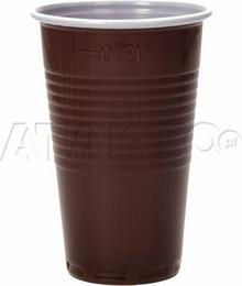 Kubek napój gorący 0.2l brązowy (100) ZZ1119