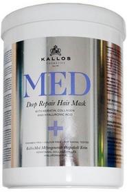 Kallos MED Deep Repair Hair Mask - Regenerująca maska do włosów 1000ml